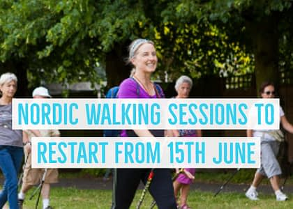 Nordic Walking Sessions to Resume from 15th June