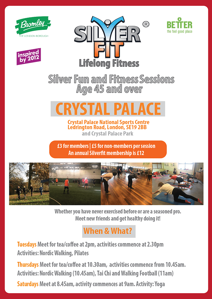 Silverfit Crystal Palace sessions
